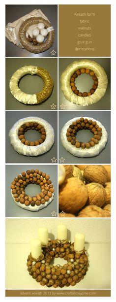 walnut advent wreath tutorial