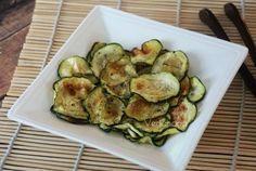 Chips de Abobrinha ao Forno - Veganana