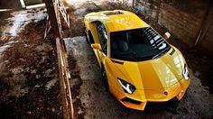 Yellow Lamborghini Aventador-HD Wallpaper Free HD Resolutions