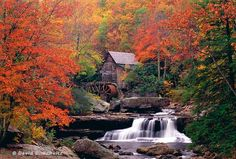 The old Babcock State Park gristmill, West Virginia. my husband proposed to me here in 2000. the grist mill still runs. if you ever get the chance have to see. we are going back in a week. can't wait!!
