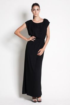 Vestido de lactancia largo de fiesta - Black Maxi dress