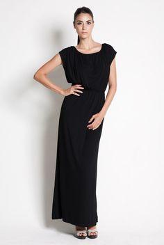 Vestido de lactancia largo de fiesta - Black Maxi dress