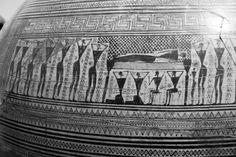 Detail of Dipylon  vase (750 b.C.) Greece - Stephanie Faith Photography