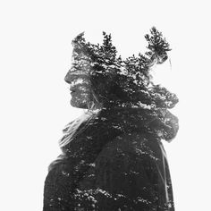 A selection of in-camera multiple exposure portraits shot during the winter of 2013 in Finland. As before, all images are created while shooting with Nikon's multiple exposure feature. Digital Photography, Fine Art Photography, Double Exposure Photography, Art Addiction, Multiple Exposure, Cold Day, Amazing Art, Monochrome, Winter