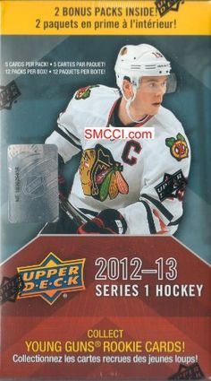 2012 / 2013 Upper Deck NHL Hockey Series One Unopened Blaster Box That Contains 12 Packs with 5 Cards Per Pack! Chance At a Ton of Different Cards Including Stars, Shortprinted Young Guns Rookie Cards, Hockey Heroes, Game Used Jersey Memorabilia Cards and More! by Upper Deck. $19.99. This is a 2012 / 2013 Upper Deck Hockey Series One Unopened Blaster Box that contains 12 packs with 5 cards per pack! Chance at a ton of different cards including stars, shortprinted ...