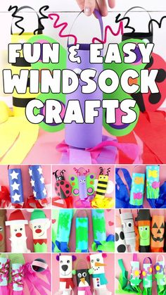 These Windsock Crafts are really easy to make. You and your kiddos will have a great time crafting and bonding together making a windsock for all the different seasons and holidays throughout the years. Many include free templates to make crafting the windsocks super simple. #iheartcraftythings Kindergarten Christmas Crafts, Christmas Crafts For Kids To Make, Preschool Crafts, Diy Crafts For Kids, Fun Crafts, Shape Crafts, Halloween Crafts For Toddlers, Animal Crafts For Kids, Toddler Crafts