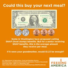Is $1.23 enough to buy your next meal? All people deserve to eat healthy food!