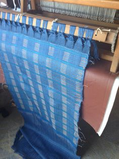 New woven fabric ready to come off the loom