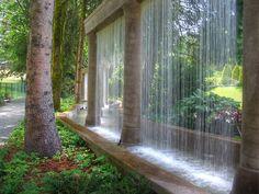 Diy Water Feature, Backyard Water Feature, Wall Of Water, Water Walls, Indoor Water Features, Water Features In The Garden, Landscape Design, Garden Design, Backyard Water Parks