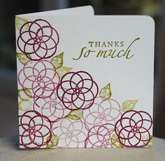 Stampin' Up ideas and supplies from Vicky at Crafting Clare's Paper Moments: Three Minute Thursday - using Circle Circus