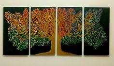 Pintura colorida hecha en casa