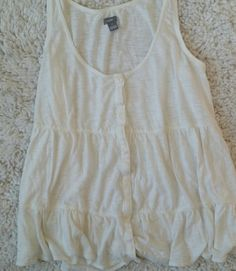 Aerie: White tank top Never worn! White button down tank Soft material Aerie aerie Tops Tank Tops