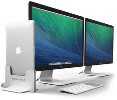 Henge Dock's Vertical Docking Station for the MacBook Pro … - iphone gadgets accessories Macbook Pro 13, Apple Macbook Pro, Macbook Air, Leica, Setup Desk, Gaming Setup, Microsoft, Xbox, Apple Iphone