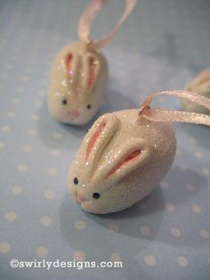 Mini Swirly Bunny ~ how-to for polymer clay | via Swirly Designs Blog