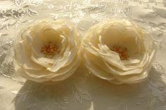 Beige Flower Hair Fascinator Bridal by LudasPreciousDesigns https://www.etsy.com/listing/110474830/beige-flower-hair-fascinator-bridal