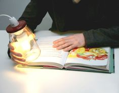 Jar lamp by UpCycle