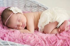 Baby Girl Headband-Vintage Inspired-Baby Headbands-Pink Headbands-Newborn Photo Prop-Photo Prop