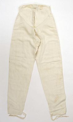 Drawers Date: early century Culture: American Medium: linen Dimensions: Length at Side Seam: 43 in. Vintage Underwear, Long Underwear, Historical Costume, Historical Clothing, Men's Clothing, Main Image, New Wardrobe, Fashion Plates, Fashion History