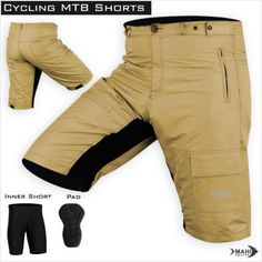 MTB Cycling Cycle Off Road Short With Padded Liner Shorts Size S-M-L-XL