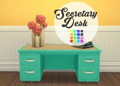 SECRETARY DESK at Imtater via Sims 4 Updates Check more at…