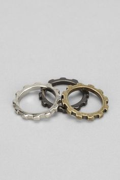 Union Mix Lock Ring-Set of 3