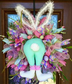 BUNNY BUTTT EASTER WREATH                                                                                                                                                                                 More