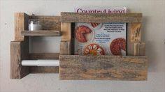 Rustic Pallet Wood Toilet Paper Roll Holder | Pallets Designs