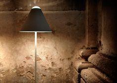 Lámpara de pie de metacrilato con dimmer ABA 120 by DAVIDE GROPPI diseño Omar Carraglia