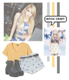 """""""Lee Chaerin"""" by lazy-alien ❤ liked on Polyvore featuring Monki, 2NE1, cl and LeeChaerin"""