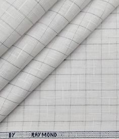 Raymond White Khadi Look Poly Cotton Grey Checks & Dobby Shirting Fabric Shirting Fabric, Suit Fabric, New Year Offers, Self Design, Blue Check, Fabric Tags, Dobby, Check Shirt