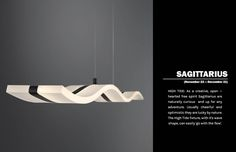 A linear pendant from the High Tide collection Linear Lighting, High Tide, Free Spirit, Sagittarius, Flow, Wave, Zodiac, November, Pendants