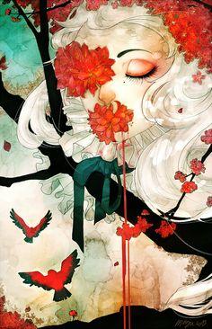 Liquid flowers by megounette.deviantart.com on @deviantART