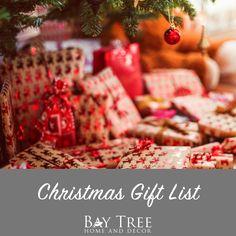 Christmas Gift List {Printable} - Bay Tree Home & Decor Christmas Gift List, Christmas Time, Presents, Gift Wrapping, Printables, Home Decor, Paper Wrapping, Homemade Home Decor, Gifts