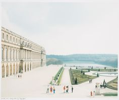 """Title: Versailles : aile du midi People: Luigi Ghirri (photographer) Paola Ghirri (printer) Date: 1985 Technique and media: Chromogenic colour print Dimensions: comp.: 36.0 x 43.5 cm sheet: 43.1 x 50.8 cm Inscription: inscribed, signed and dated - by Paoloa Ghirri, in black ink, on the print below the image, l.l.: """"Versailles, 1985. Stampa 1997.5/5 Paola Ghirri / A Phyllis Lambert per il suo settantissimo compleanno"""" stamped - on the print below the image, l.r."""
