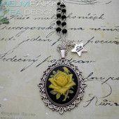 Keltainen ruusu kaulakoru 20€