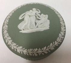 Wedgwood Jasperware Round Trinket Box Sage Green 2.5 inches #Wedgwood