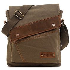 EcoCity Mens Womens Vintage Canvas Crosssbody Bags Messenger Bag Shoulder  Bags (Army green) -- Find out more at the image link. 996e79b693f35