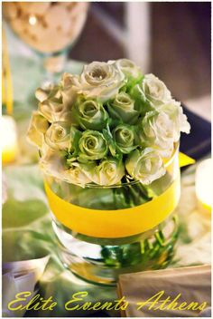 TRUE WEDDINGS | A Lemon Wedding by Elite Events Athens | Anca & Konstantinos | Wedding Tales - Ο γάμος των ονείρων σας! Rainbow Wedding, Lemon Yellow, Floral Arrangements, Dream Wedding, Table Decorations, Sweet, Modern, Flowers, Inspiration