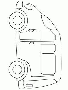 van2 transportation coloring pages