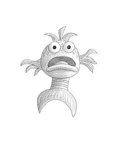pout pout fish printable for puppet