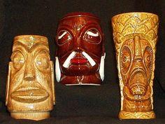Very Cool Rare, Stockton Islander, Vintage Tiki Mugs!  Tiki Bar, Tiki Décor, Rare Tiki!