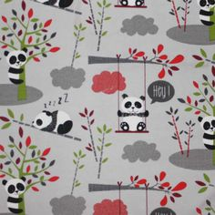 Jersey - Jersey Stoff Hey Panda Hellgrau - ein Designerstück von Stilkontrast bei DaWanda Designer, Kids Rugs, Pattern, Home Decor, Gray, Decoration Home, Kid Friendly Rugs, Room Decor, Patterns