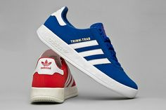 IT'S LIKE A MERSEYSIDE DERBY - TRIMM TRABS IN COLLEGIATE RED/WHITE AND ROYAL BLUE/WHITE