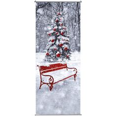 """Déco Bandeau en textile """"Banc de neige"""" long. 250 cm & Décoration chez DecoWoerner"""