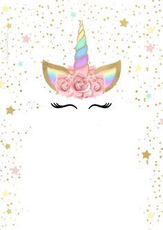 Elegante Unicorn Birthday Invitation Templates Best Of Unicorn with Rainbow Free Printabl. Unicorn Birthday Invitation Templates Be. Unicorn Themed Birthday, Unicorn Birthday Invitations, Birthday Invitation Templates, Birthday Wallpaper, Free Printable Invitations, Unicorn Baby Shower, Birthday Party Decorations, First Birthdays, Diy And Crafts
