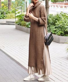 Sweater dresses with hijab style fashion hijab casual dresses 33 ideas fashion Modern Hijab Fashion, Street Hijab Fashion, Muslim Fashion, Look Fashion, Fashion Outfits, Islamic Fashion, Winter Fashion, Hijab Fashion Style, Modest Fashion