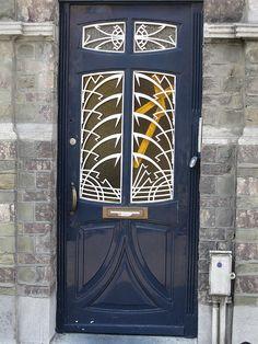 Belgium, Antwerp~ Art Nouveau door