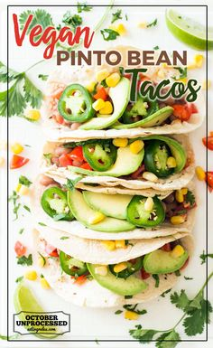Full of flavor and fresh ingredients, these vegan tacos are sure to be a hit!