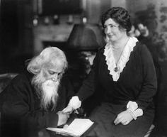 Hellen Keller and Rabindranath Tagore (known as Gurudev), a Bengali poet and writer who became the first non-European to win the Nobel Prize in Literature (in 1913).