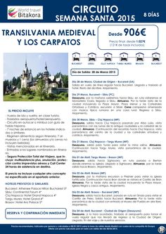 RUMANIA: Transilvania y Los Carpatos, Semana Santa desde 906€ + tasas ultimo minuto - http://zocotours.com/rumania-transilvania-y-los-carpatos-semana-santa-desde-906e-tasas-ultimo-minuto-3/